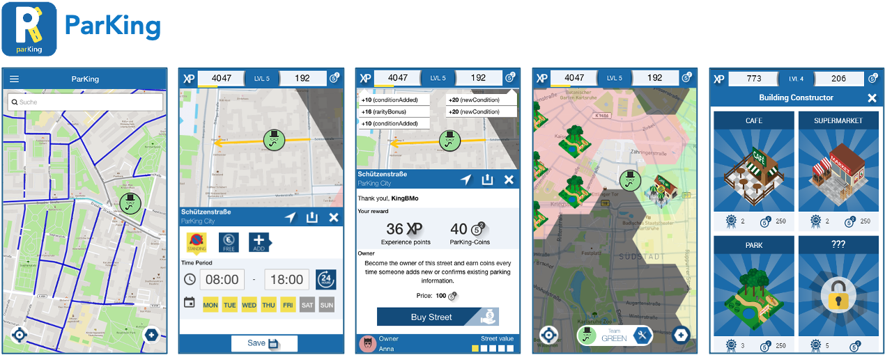 ParKing App - gamified crowdsourcing to simplify parking